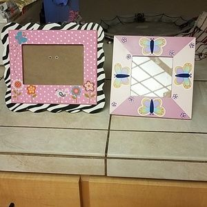 2 Butterfly Picture frames